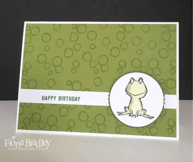 Happy Birthday - Love You Lots - Frog - Stampin Up - Just Spiffing by Fiona Bradley