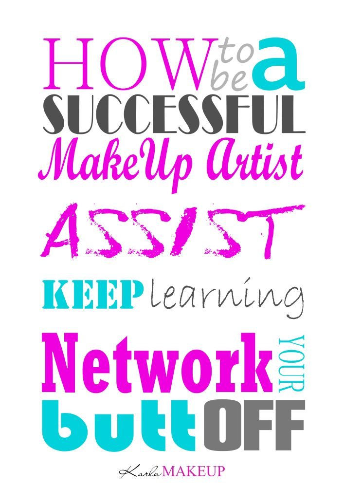 My Top Three Tips How To be a Successful Make-up... - Karla Powell Make-up Artist