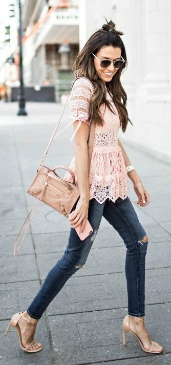 Lace top. (Cute Top Fashion)