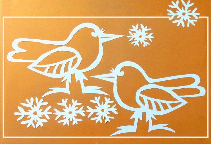 vystřihovánky - vrány