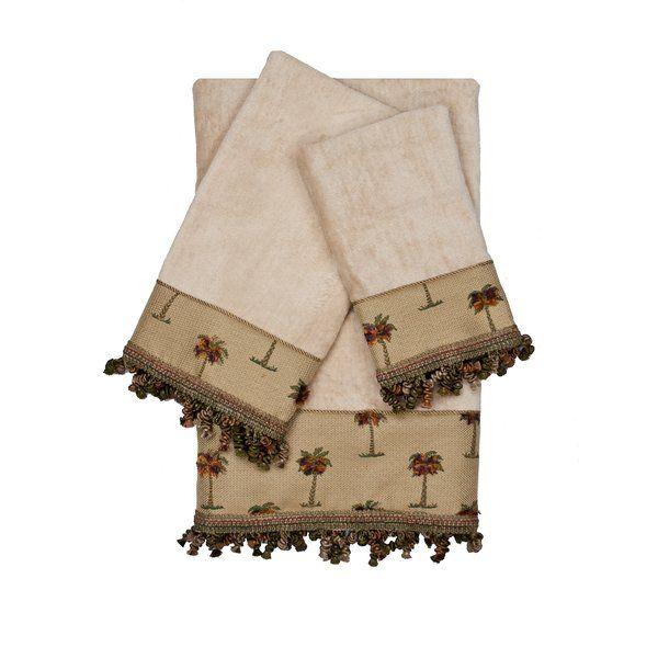 You Ll Love The Tropicana Decorative Embellished 3 Piece Towel Set