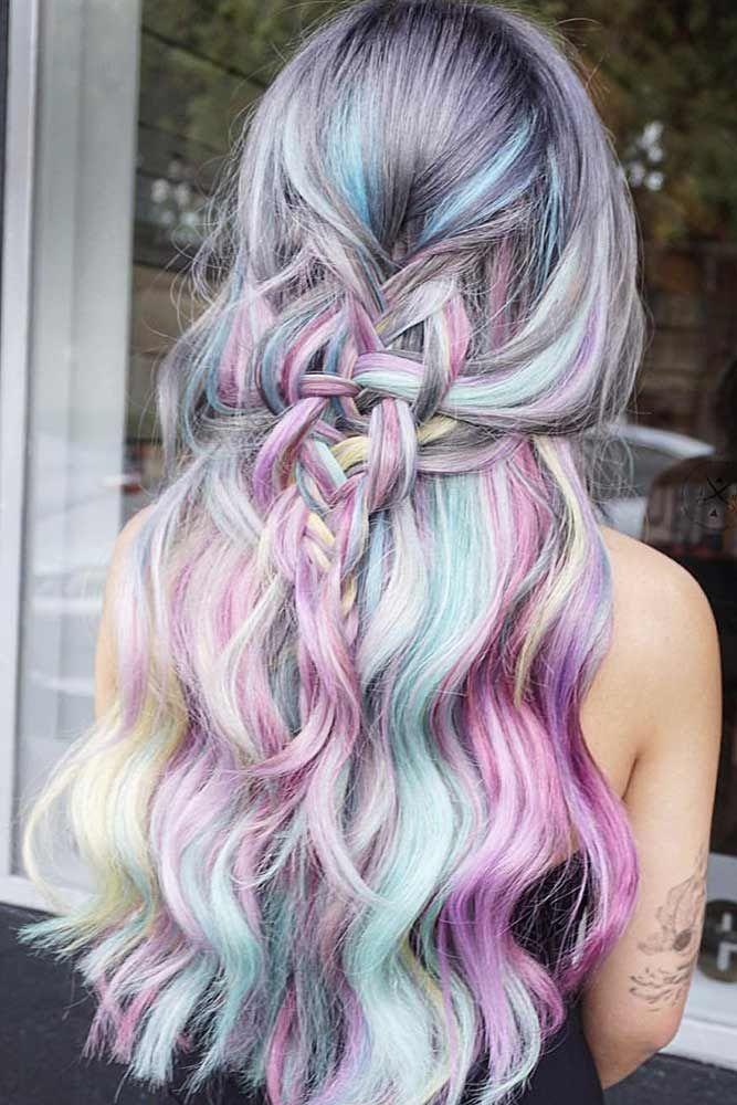 15 Bold And Trendy Mermaid Hair Ideas Loveharstyles Com Hair Styles Hair Color Pastel Candy Hair