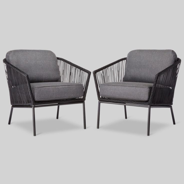 • 3M Scotchgard treated cushions<br>• Rust-resistant steel frame<br>• Includes seat and back cushions<br>• Approximately 30 minutes of assembly time<br>• Compatible with the Threshold Club Patio Chair Cover<br><br>Comfort, style and versatility never looked so good. The Standish Patio Club Chair 2-Piece Set from Threshold is the modern patio update you've been looking for. If you love to spend time in your ou...