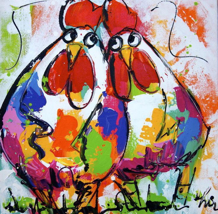 Samen - www.vrolijkschilderij.nl