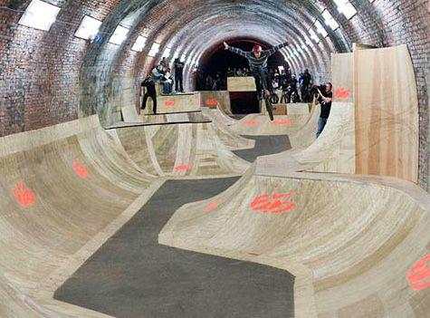 The Skate Tunnel, England | 11 of the Strangest Skateparks You'll ...