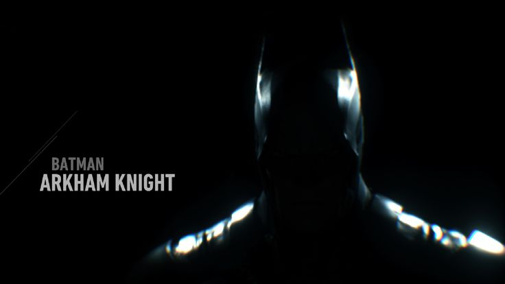 Batman: Arkham Knight, title screen.