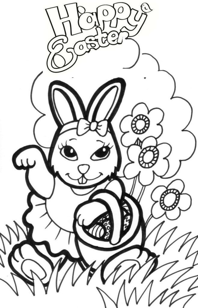 9 Fantastic Easter Bunny Coloring Pages For Fresh Hopes