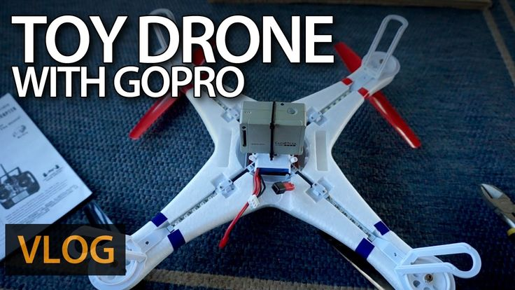 Toy #drone with #GoPro camera attached!