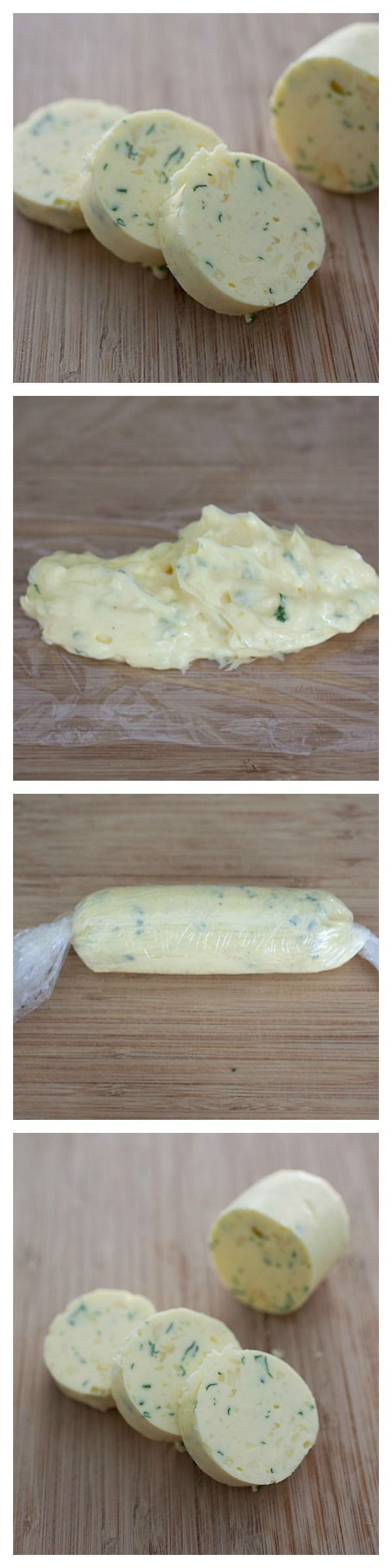 Homemade Garlic Herb Butter Recipe. So easy to make and you can use it for so many everyday recipes! http://rasamalaysia.com