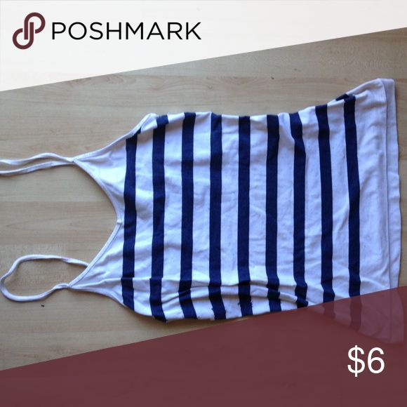 Striped nautical cami Super stretchy cami. Has some pilling. Tops Tank Tops