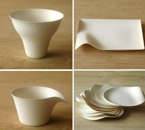 Reinventing Disposable: Elegant Japanese Paper Tableware