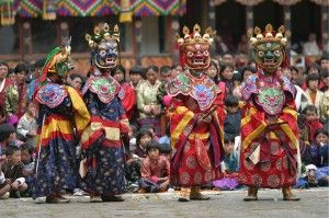 "Tshechu is a religious festival meaning ""tenth day"" held annually in various temples, monasteries and dzongs throughout Bhutan."