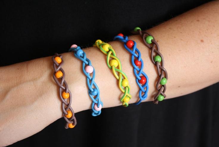 Piuha -rannekorut on valmistettu kierrätetystä sähköjohdosta ------ Bracelets made out of recycled electric wire