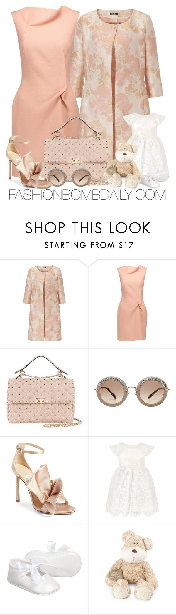 """""""Untitled #2034"""" by dnicoleg ❤ liked on Polyvore featuring Vera Mont, Roland Mouret, Valentino, Miu Miu, Jimmy Choo, Monsoon and Once Upon a Time"""