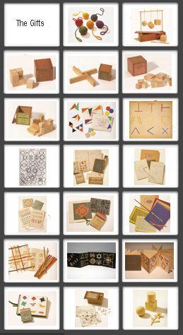 Inventing kindergarten - The Twenty Gifts oorbellen, sleutelhangers, armbanden etc.
