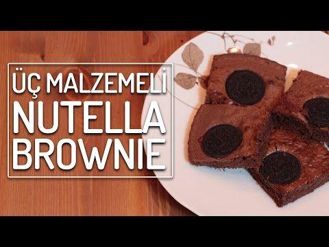 Üç Malzemeli Nutella Brownie (Damak Patlatır!) | Yemek.com - YouTube