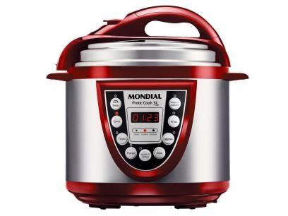 Panela de Pressão Elétrica Mondial Pratic Cook - 700W 3,6L Tela com as melhores condições você encontra no Magazine Edmilson07. Confira!