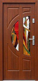 Drzwi zewnętrzne drewniane wzór 599s2+ds6 w kolorze orzech