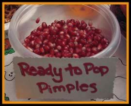 gross halloween party food ready to pop pimples - Names For A Halloween Party