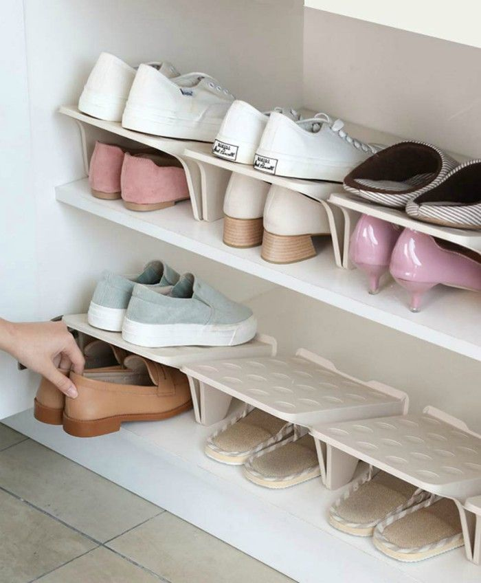 15 Clever Ways To Store Your Shoes And Boots Shoe Stackers Storage Organization Shoestorage In 2020 Shoe Rack Closet Shoe Storage Rack Wall Mounted Shoe Storage