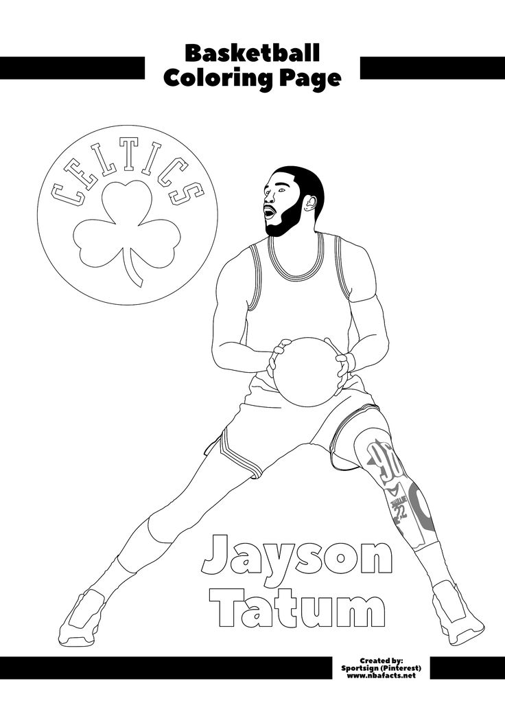 Free NBA Coloring Sheets in 2020 Coloring sheets