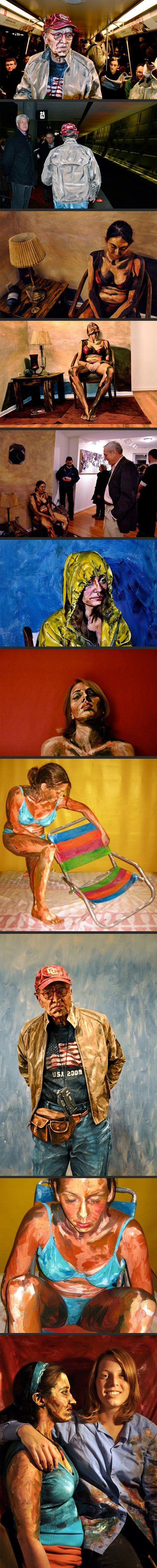 Hyper Realistic Acrylic Body Painting ~ Alexa Meade