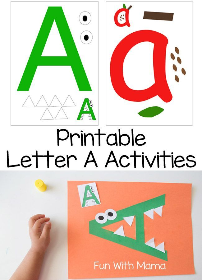 Here is a wonderful set of activity ideas to go along with your letter a or weekly alphabet letter activities. The first in this series covers introducing the letter a to your toddler or preschool aged child and the printable letter a activity is wonderfu