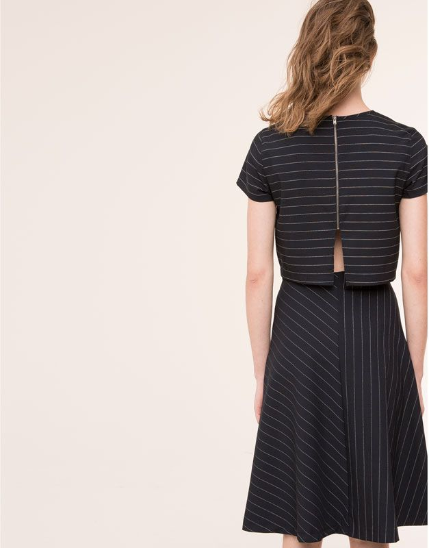 STRIPPED ZIPPED TOP - BLOUSES & SHIRTS - WOMAN - PULL&BEAR Mexico
