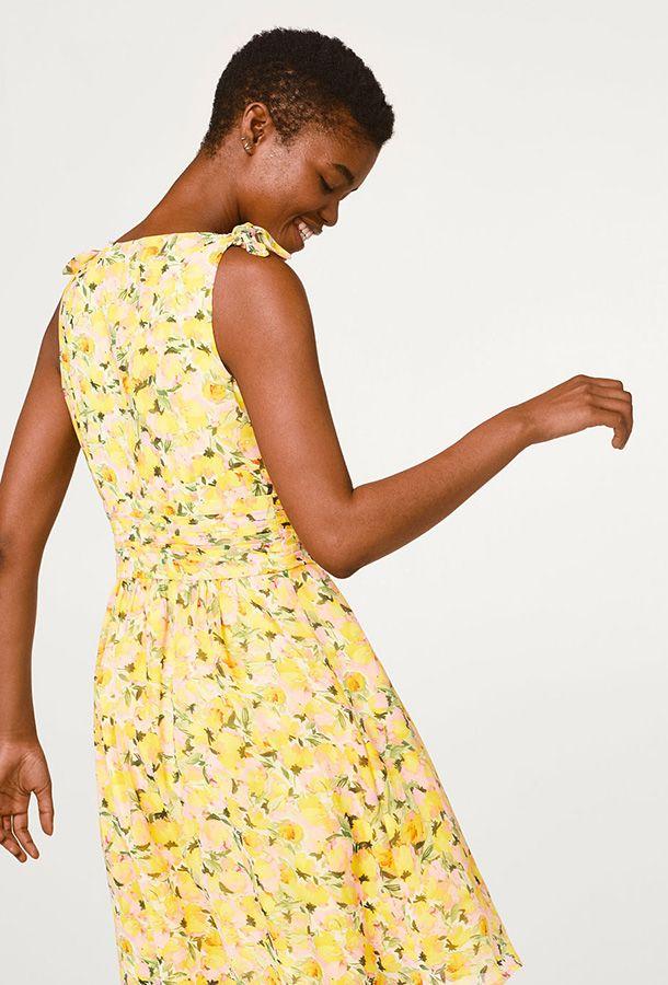 Esprit collection offshoulder kleid aus crinkle chiffon
