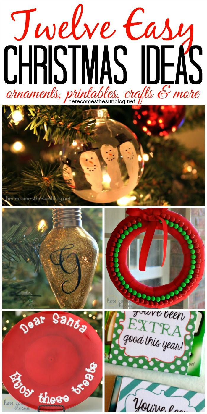 Twelve Easy Christmas Ideas to help make your holiday season stress-free and fun!