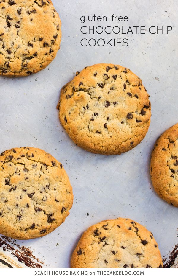 Gluten Free Chocolate Chip Cookies   by Lei Shishak author of Beach House Baking   on TheCakeBlog.com