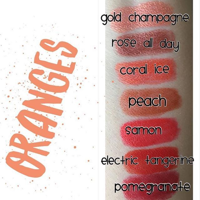 I lovve orange lips!! #orangelipstick #lipsense #lipstick #samon #swatches