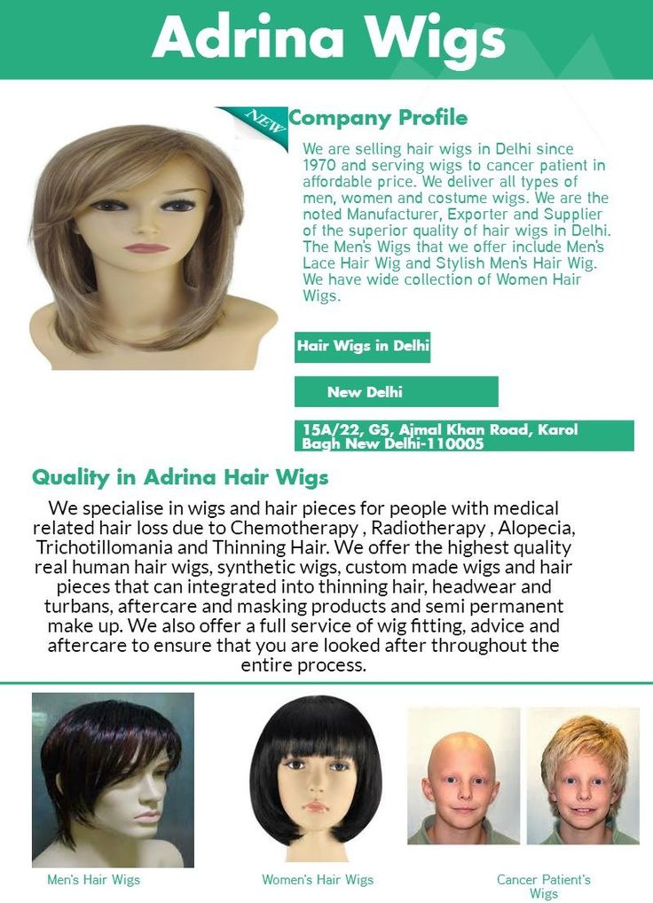 Hair wigs are available in different type of style for your own convenience and making a better way to improve your hair style throughout in your heads. Real hair wigs are often made using monofilament bases where essentially mean that the hair is individually knotted onto an ultra fine mesh base so that it can swivel and move in any direction. Adrina hair wigs in Delhi are making finest wig so you can wear comfortably. For more details visit our site…
