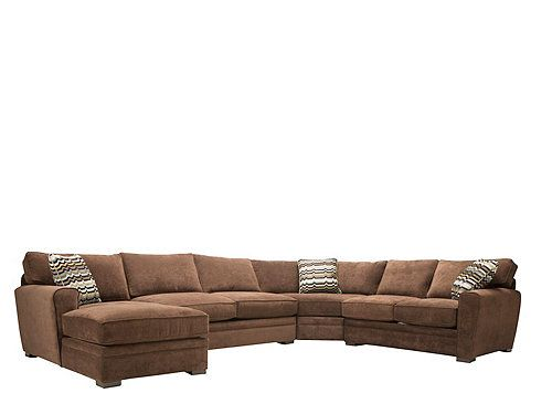 This artemis ii 4 piece microfiber sectional sofa with for 4 piece sectional sofa microfiber