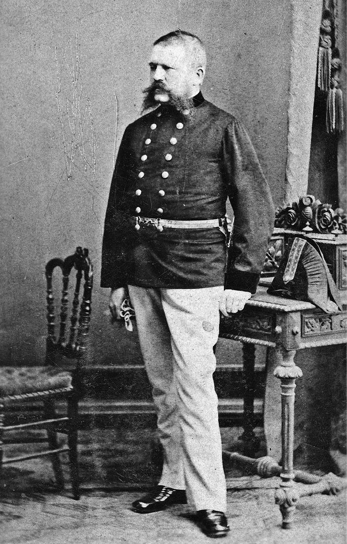 Alois Hitler, father of Adolf, in the uniform of a customs official of the Austrian Empire (which he apparantly always wore).