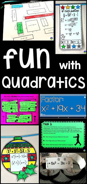 I love teaching quadratics. It's the unit where I see the most student growth and where students seem to be the most proud of what they learn to do. In our classes, we first learn to factor, then move to the Quadratic Formula and then to quadratic word problems. My students have all seen factoring in Algebra 1 and Geometry, so it's not totally new to them. Still, factoring can feel completely new to some students, so I always start from the very beginning.