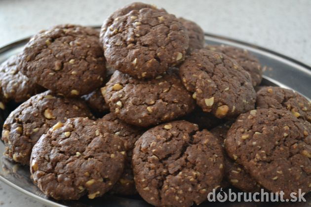 Fotorecept: Čokoládové cookies s ovsenými vločkami