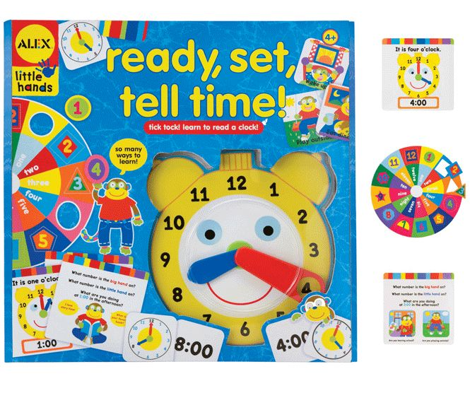 Alex Ready, Set, Tell Time ALX-1467 - My son would learn to tell time with this toy!