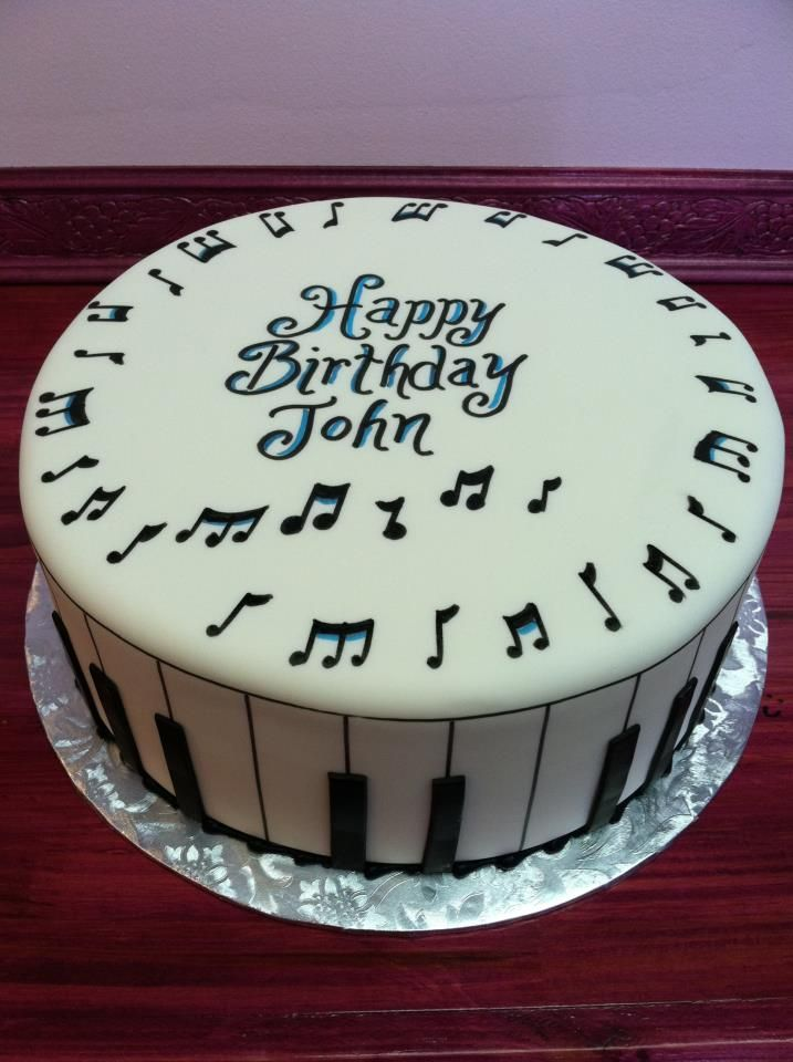 Birthday Cake For John : musical cake Tartas musicales Pinterest Birthdays ...