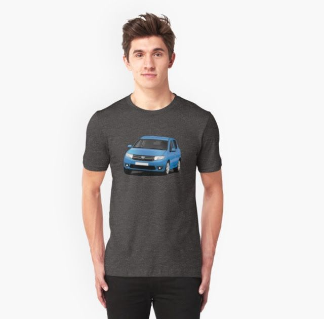 Dacia Sandero illustrations on t-shirts  #dacia #sandero #daciasandero #illustration #carillustration #tshirt #blue #romanian #automobiles #cars