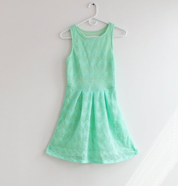 Hey, I found this really awesome Etsy listing at https://www.etsy.com/listing/192330921/mint-chevron-dress-navy-blue-colorblock