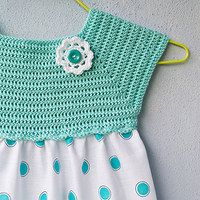 crochet and sewing dress Inspiracion ✿⊱╮Teresa Restegui http://www.pinterest.com/teretegui/✿⊱╮