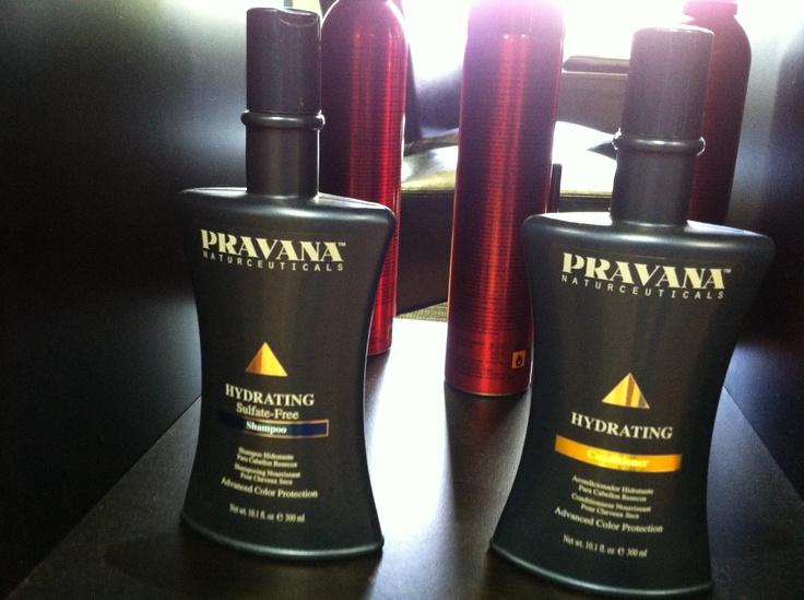 PRAVANA shampoo and conditioner