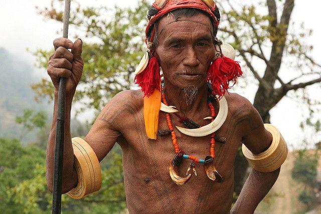 India - Nagaland | Konyak Naga at Wakching village. | © Walter Callens.