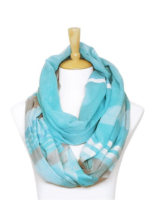 Erin Infinity Scarf in Ashen and Blue