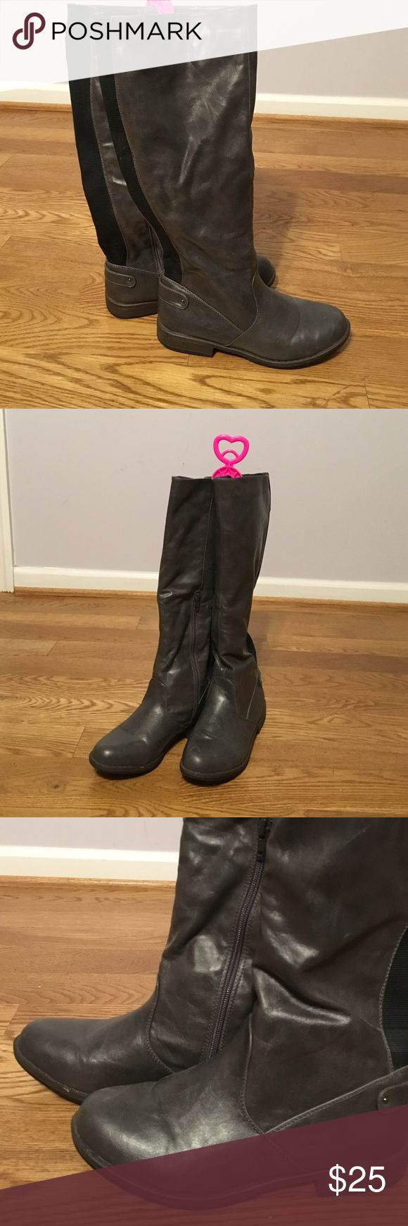 Grey knee-high boots Worn only a few times. Brand is Bamboo Shoes Winter & Rain Boots