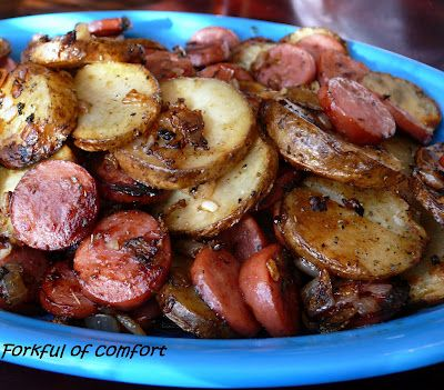 Sausage and Potatoes-I fixed this today but left with only the sausage, potatoes, oil and onions.  It was delicious.