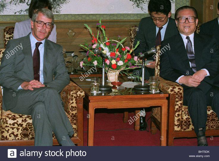 JOHN MAJOR & JIANG ZEMIN GB PM & GS OF CHINA COMMUNIST 12 September 1991 CHINA