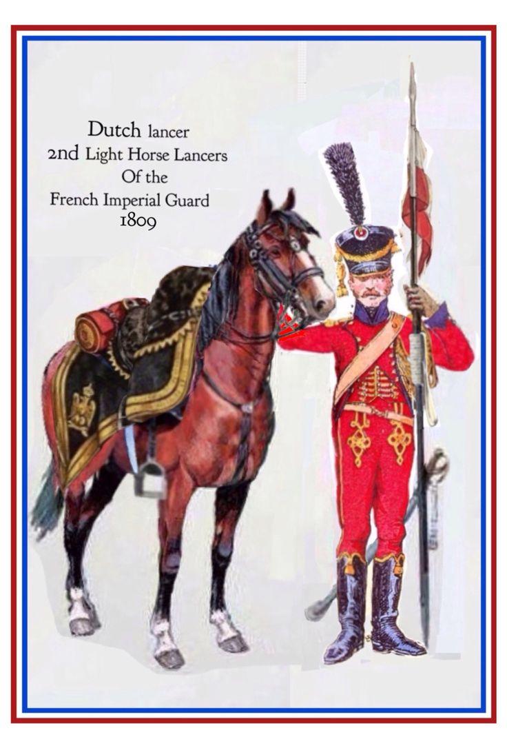 Lanciere rosso olandese della guardia imperiale francese