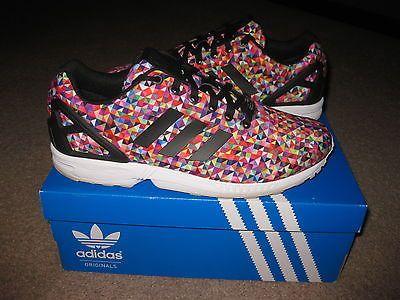 Adidas ZX Flux Multicolor Prism Sz 10 Kaleidoscope M19845 NICE CLEAN w/ Box